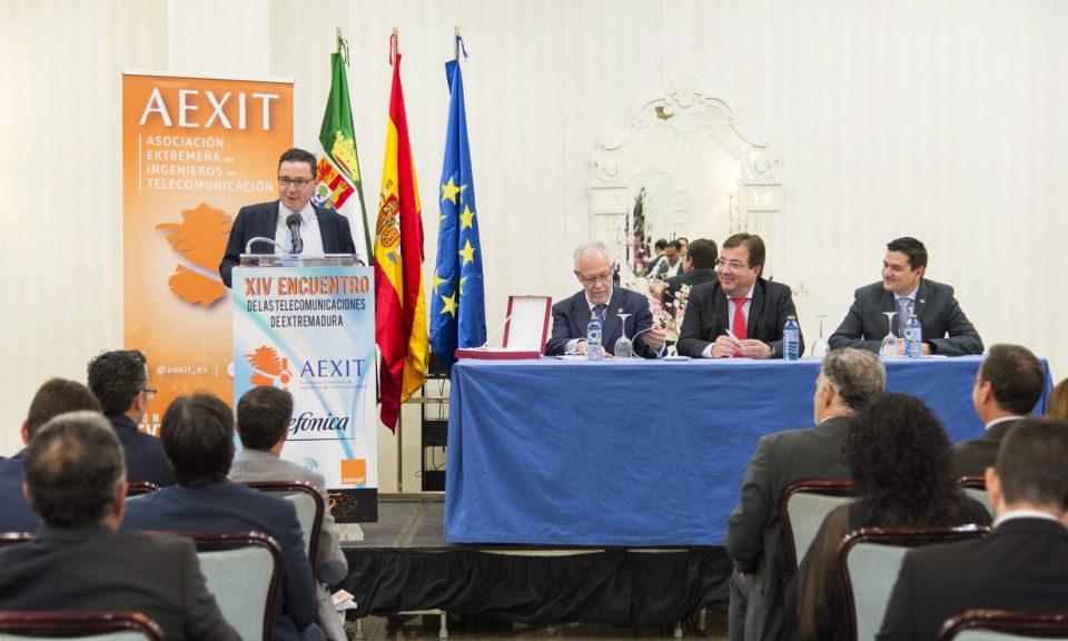 Guillermo Santamaría habló de la transformación digital como un factor de supervivencia, y como la administración extremeña es un buen ejemplo de implantación de estas.
